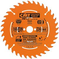 CMT ITK Ultra Thin-Kerf Saw Blade for Cordless - D136x1,5 d20(+10) Z18 HW Ripcut